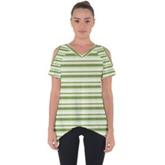 Spring Stripes Cut Out Side Drop Tee