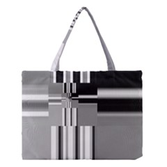 Black And White Endless Window Medium Tote Bag