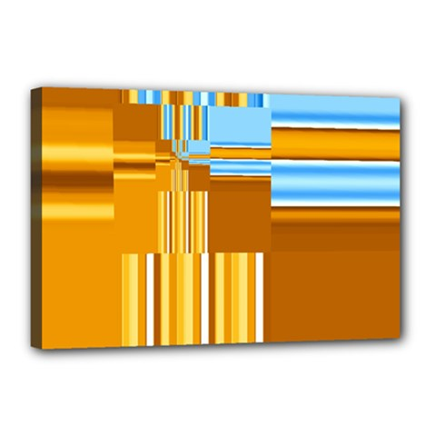 Endless Window Blue Gold Canvas 18  X 12