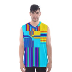 Colorful Endless Window Men s Basketball Tank Top