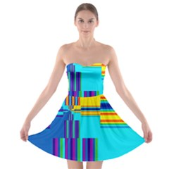 Colorful Endless Window Strapless Bra Top Dress