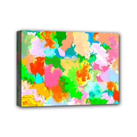Colorful Summer Splash Mini Canvas 7  X 5
