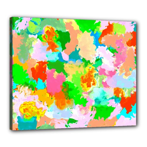 Colorful Summer Splash Canvas 24  X 20