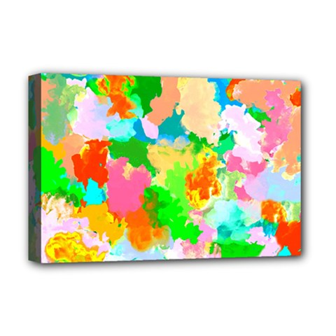 Colorful Summer Splash Deluxe Canvas 18  X 12