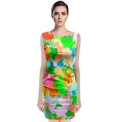 Colorful Summer Splash Classic Sleeveless Midi Dress