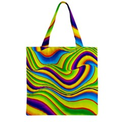 Summer Wave Colors Grocery Tote Bag