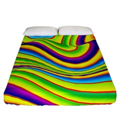 Summer Wave Colors Fitted Sheet (california King Size)