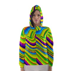 Summer Wave Colors Hooded Wind Breaker (women)