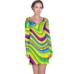 Summer Wave Colors Long Sleeve Nightdress