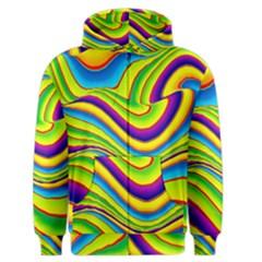 Summer Wave Colors Men s Zipper Hoodie