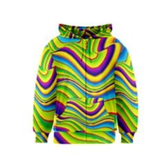 Summer Wave Colors Kids  Zipper Hoodie