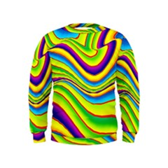 Summer Wave Colors Kids  Sweatshirt
