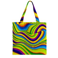 Summer Wave Colors Zipper Grocery Tote Bag