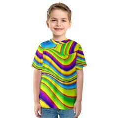 Summer Wave Colors Kids  Sport Mesh Tee