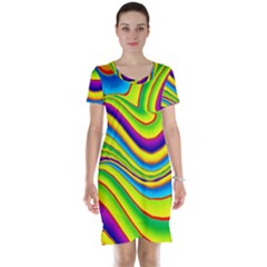 Summer Wave Colors Short Sleeve Nightdress