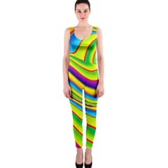 Summer Wave Colors Onepiece Catsuit