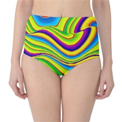 Summer Wave Colors High Waist Bikini Bottoms