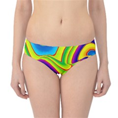 Summer Wave Colors Hipster Bikini Bottoms