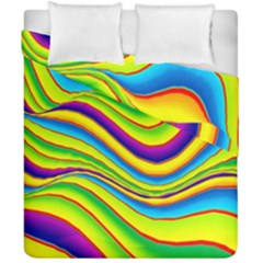 Summer Wave Colors Duvet Cover Double Side (california King Size)