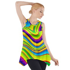 Summer Wave Colors Side Drop Tank Tunic
