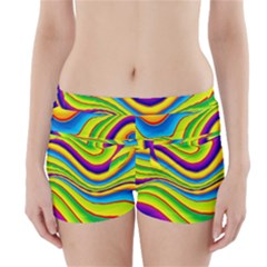 Summer Wave Colors Boyleg Bikini Wrap Bottoms