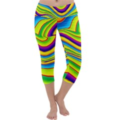 Summer Wave Colors Capri Yoga Leggings