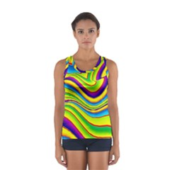 Summer Wave Colors Sport Tank Top