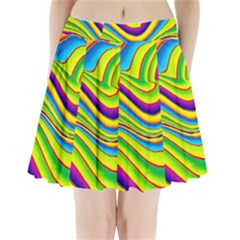 Summer Wave Colors Pleated Mini Skirt