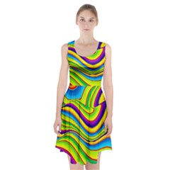 Summer Wave Colors Racerback Midi Dress