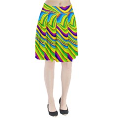 Summer Wave Colors Pleated Skirt