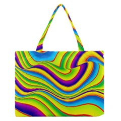 Summer Wave Colors Zipper Medium Tote Bag