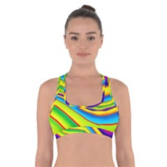Summer Wave Colors Cross Back Sports Bra