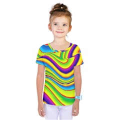 Summer Wave Colors Kids  One Piece Tee