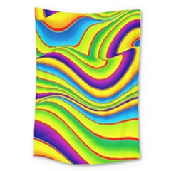Summer Wave Colors Large Tapestry