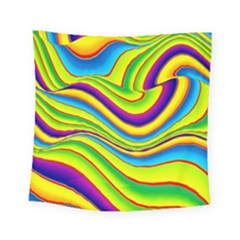 Summer Wave Colors Square Tapestry (small)