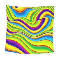 Summer Wave Colors Square Tapestry (large)