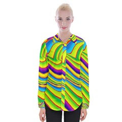 Summer Wave Colors Womens Long Sleeve Shirt