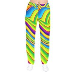 Summer Wave Colors Drawstring Pants