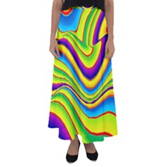 Summer Wave Colors Flared Maxi Skirt