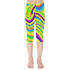 Summer Wave Colors Kids  Capri Leggings
