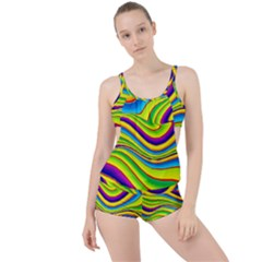Summer Wave Colors Boyleg Tankini Set