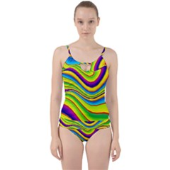 Summer Wave Colors Cut Out Top Tankini Set