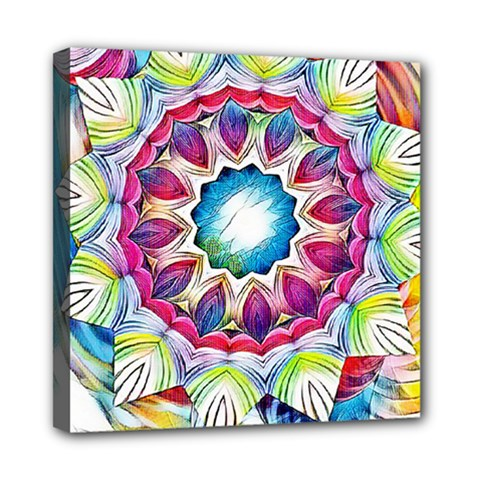 Sunshine Feeling Mandala Mini Canvas 8  X 8