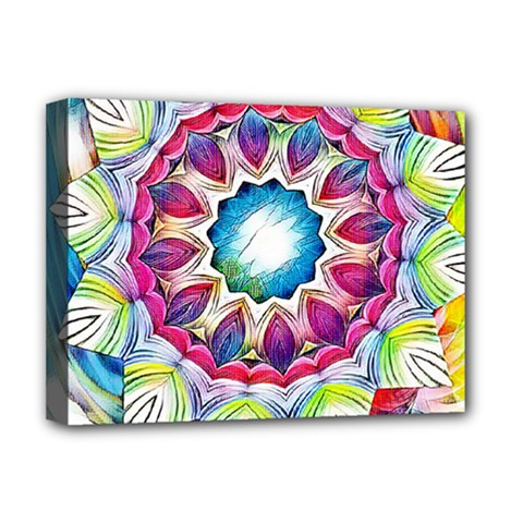 Sunshine Feeling Mandala Deluxe Canvas 16  X 12