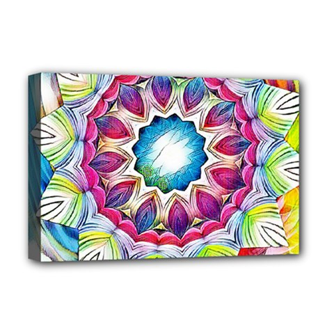 Sunshine Feeling Mandala Deluxe Canvas 18  X 12