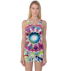Sunshine Feeling Mandala One Piece Boyleg Swimsuit