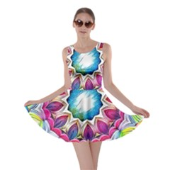 Sunshine Feeling Mandala Skater Dress
