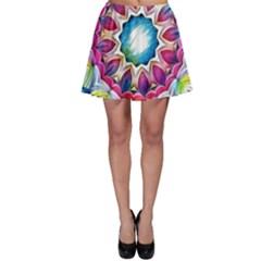 Sunshine Feeling Mandala Skater Skirt