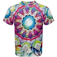 Sunshine Feeling Mandala Men s Cotton Tee