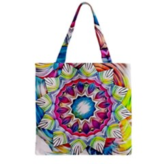 Sunshine Feeling Mandala Grocery Tote Bag